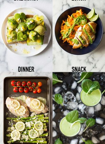 """A healthy diet is one filled with food and most of it fruits and vegetables. Fill half your plate with fruits and veggies and the rest with """"food""""!"""