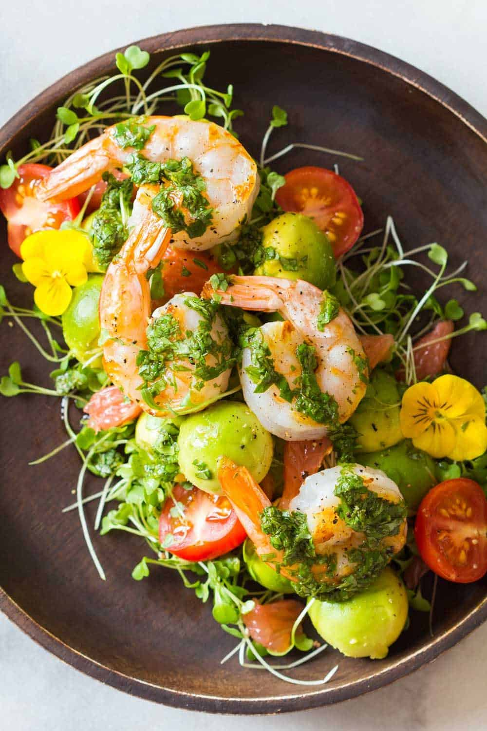 Mexican-Style Shrimp Avocado Salad