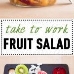 Collage of Mango Fruit Salad images with text overlay for Pinterest.