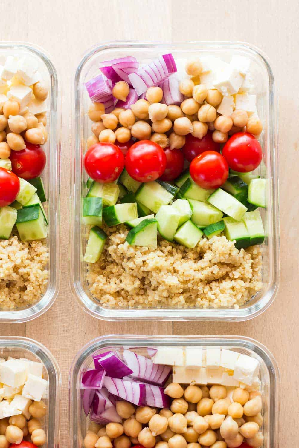 Close up of one Healthy Meal Prep Bowl