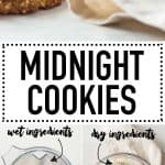 Stacked cookies and process photos with text overlay for Pinterest