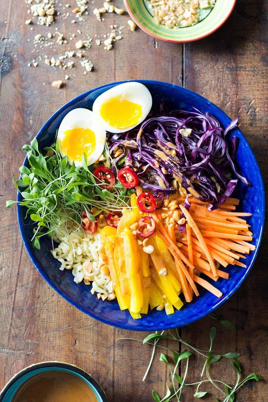 Ramen Noodle Salad with Peanut Sauce