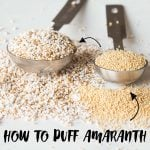 How to puff amaranth