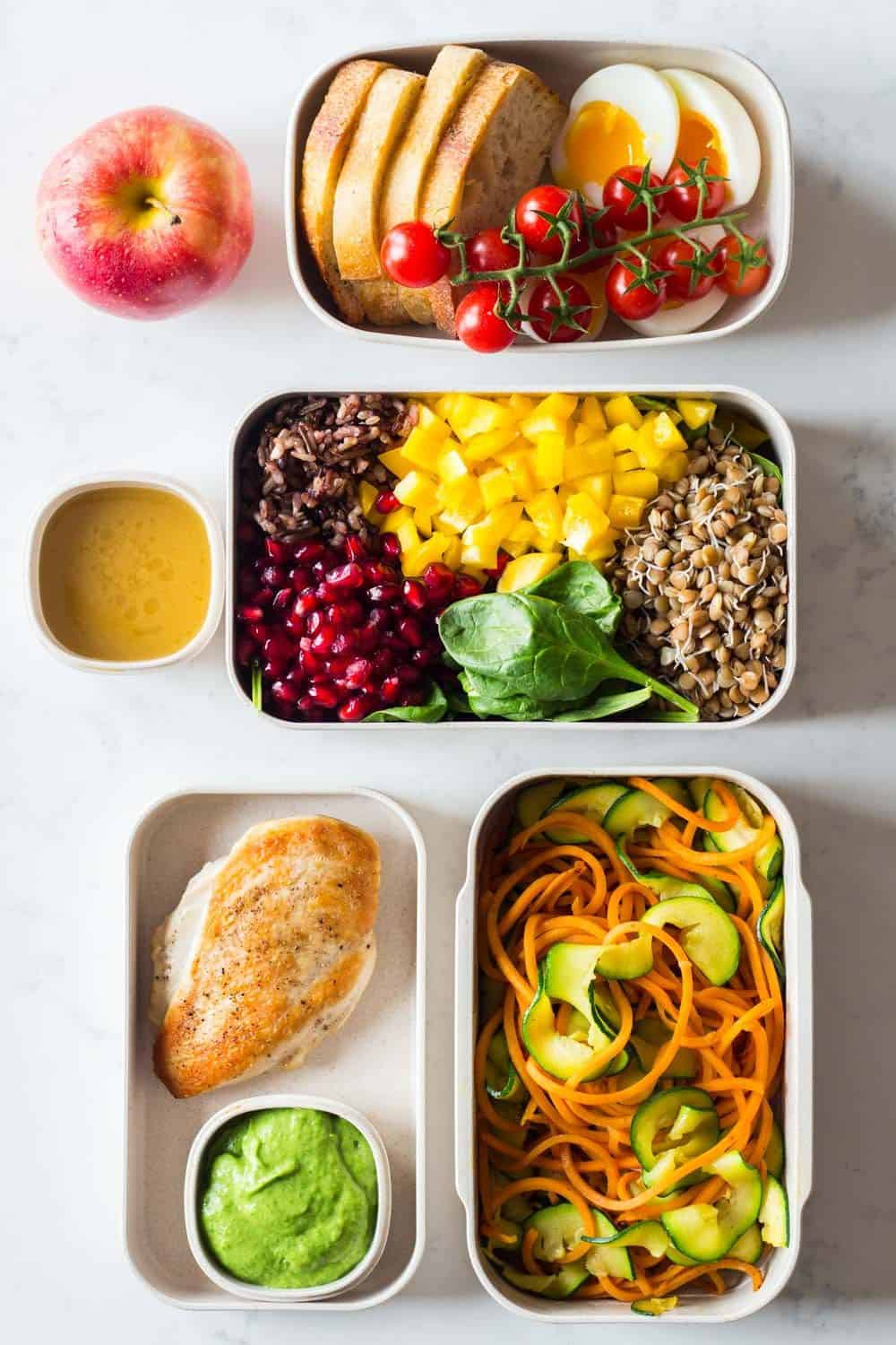 Clean Eating Meal Plan – 1 full day prepped in 40 mins