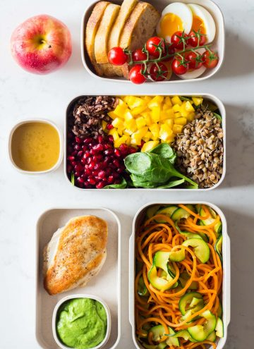 Several Meal Prep Containers showcasing the food for the Clean eating meal plan