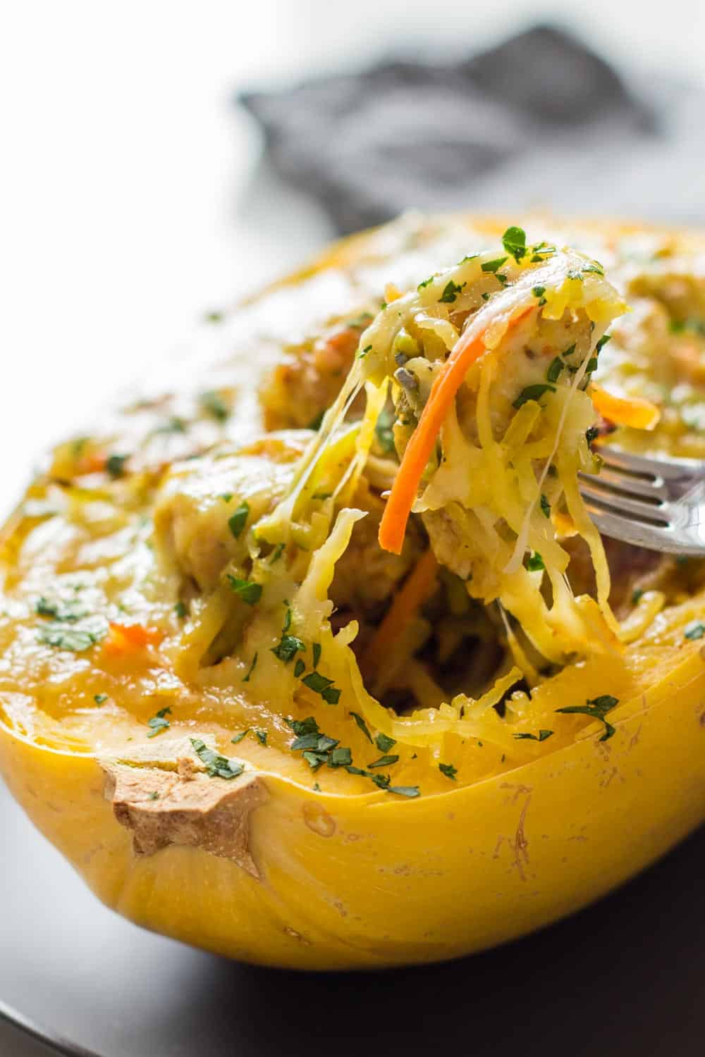 Spaghetti Squash with Chicken Recipe close up