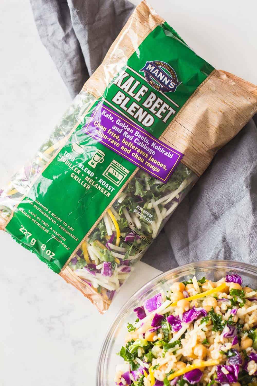 Bag of Mann's Kale Beet Blend for Brown Rice Salad