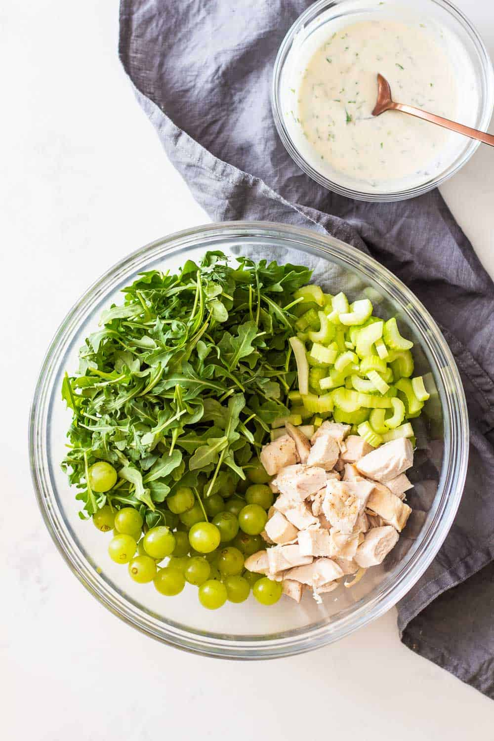 Fresh Green Pea Soup with Grape Salsa