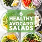 The best healthy Avocado Salads all on one photo collage