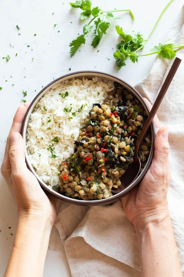 30-Minutes One Pot Lentils and Rice