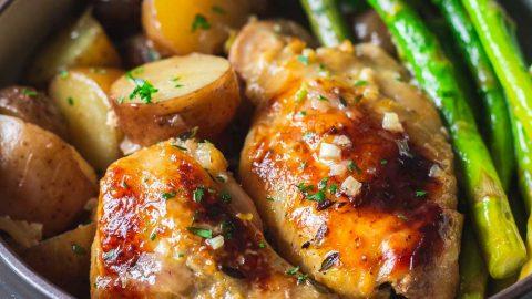 Easy Slow-Cooker Lemon Chicken - Green Healthy Cooking