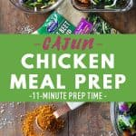 Cajun Chicken Meal Prep Bowls Pin