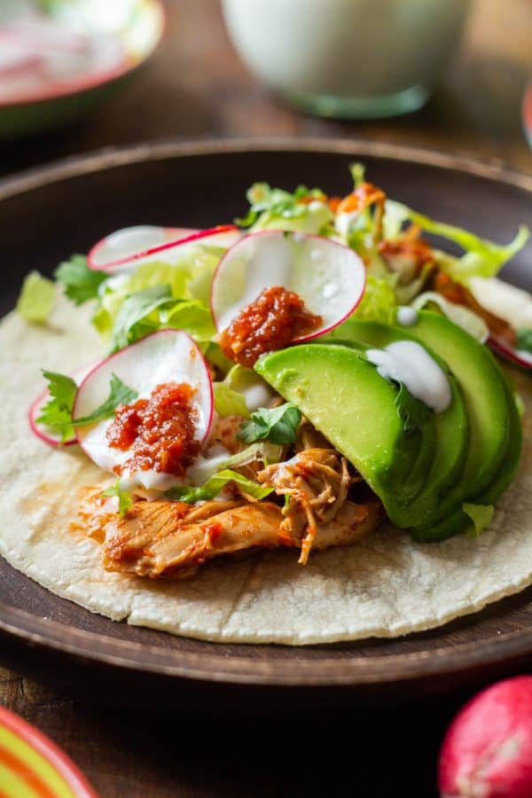 healthy chicken tacos dinner