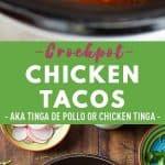Crockpot Chicken Tacos Pin