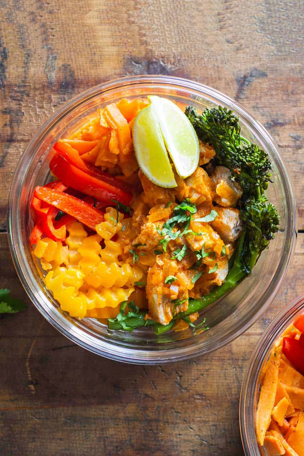Close-up of Thai Chicken Curry Meal Prep Bowl