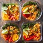 Thai Chicken Curry Meal Prep Bowls