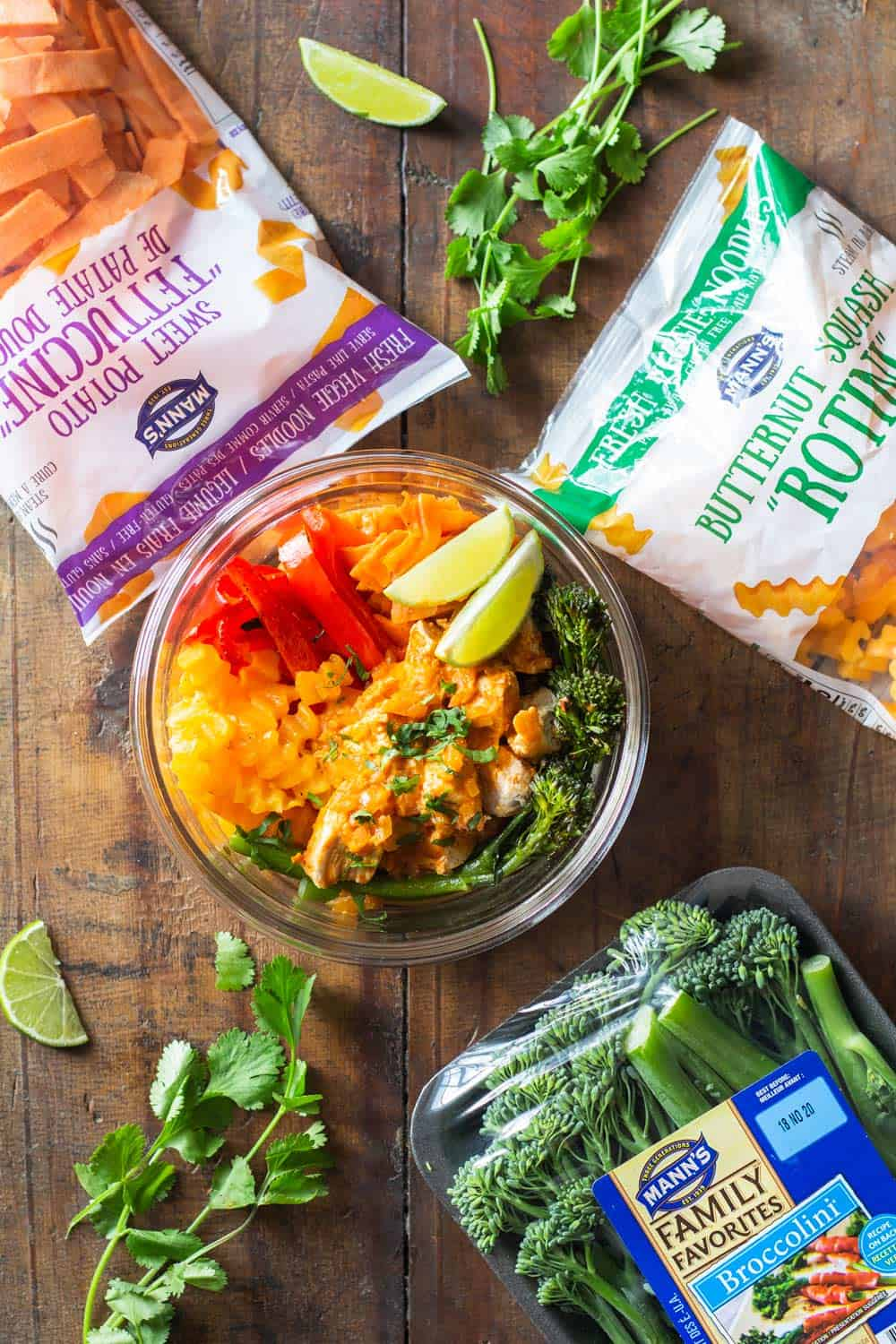 Thai Chicken Curry Meal Prep Bowl with Manns Products