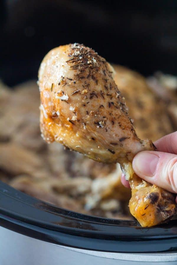 Crock Pot Whole Chicken Drumstick Crispy Skin
