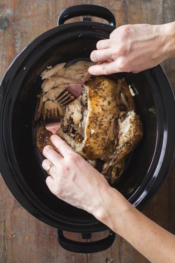 Crock Pot Whole Chicken Shredded