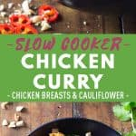 Slow Cooker Chicken Curry Pinerest Image