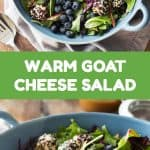 warm goat cheese salad pin collage