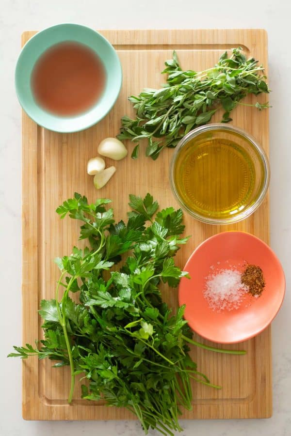 Ingredients for Chimichurri Recipe