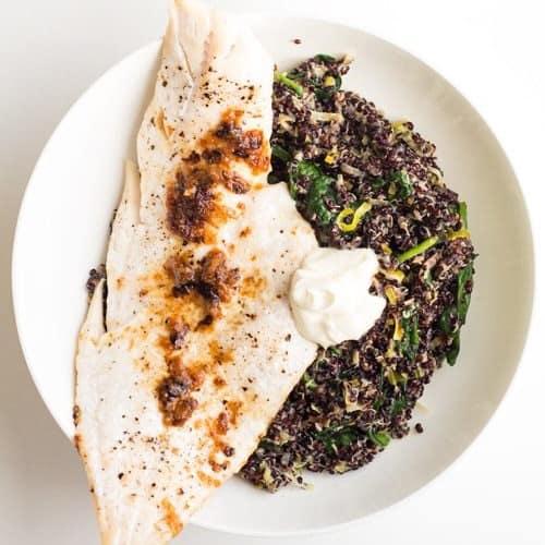 Black Quinoa Risotto with Haddock