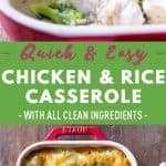 Chicken and Rice Casserole Pin Collage