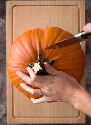 Cutting a Pumpkin