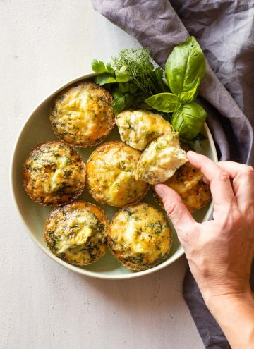 Herb Egg Muffins on a plate