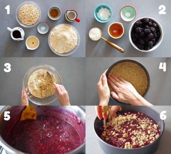 Step by Step Photo Instructions of how to make blackberry pie