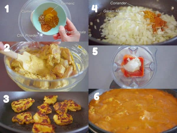 How to make butter chicken step by step photo instructions